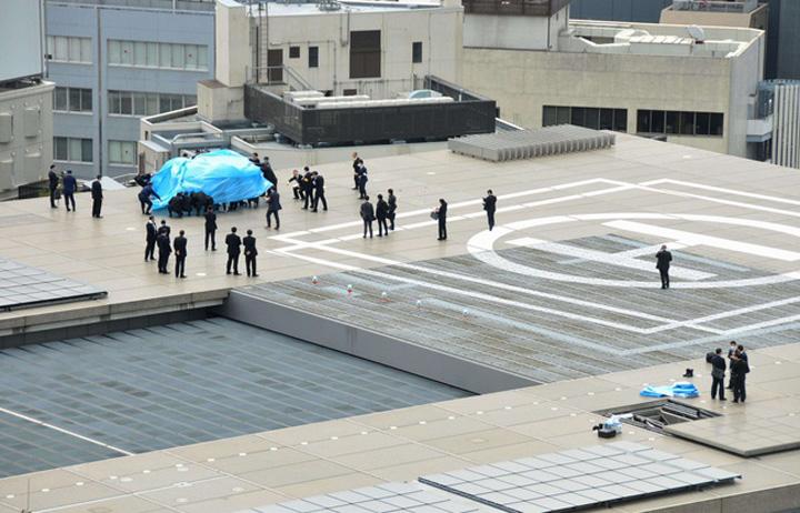 drona Locuinta premierului nipon atacata de o drona radioactiva