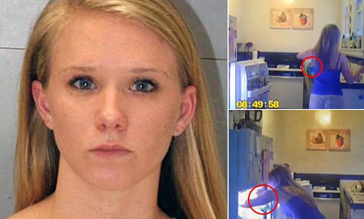studenta Studenta din SUA, arestata dupa ce a vrut sa si curete colegele de apartament ca pe geamuri!