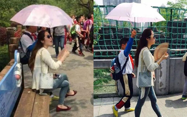 umbrela Acuzata ca nu si tine singura umbrela, o invatatoare a recunoscut ca asa e!