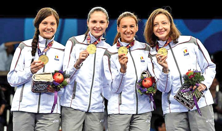 FETE Echipa de aur a Romaniei la spada va aduce medaliile la Busteni