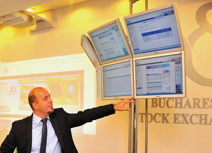 Bursa de Valori Bucuresti panou tranzactionare Pariati pe actiunile bancilor din Romania!