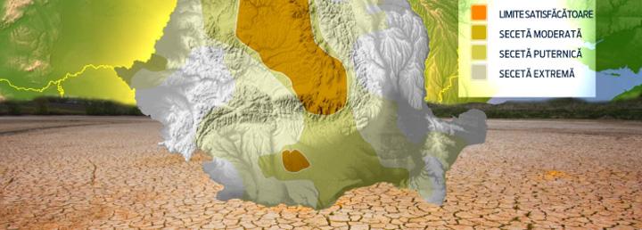 Harta secetei1 Harta secetei din agricultura romaneasca
