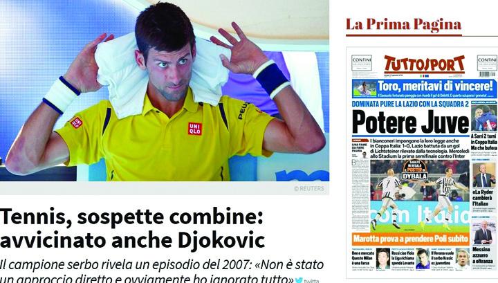 tuttosport Un fost jucator dezvaluie cat de puternica e mafia pariurilor: Stiau rezultatele si campionul dinainte sa inceapa turneul de tenis!