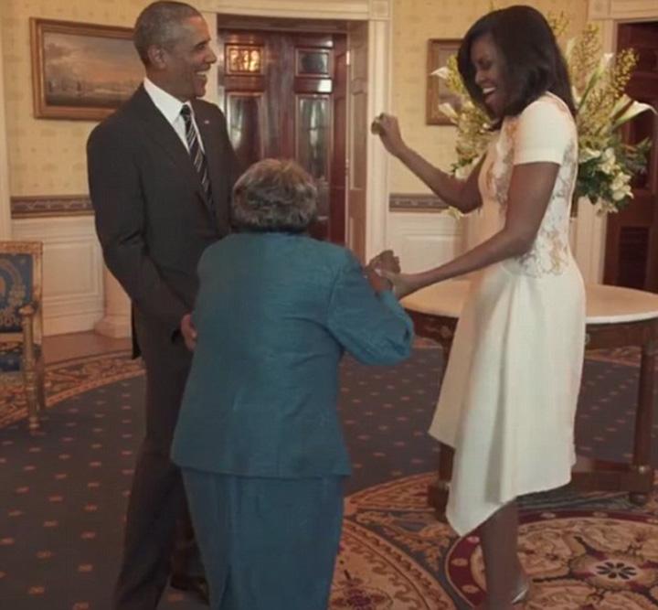 obama1 La 106 ani, a dansat cu Barack Obama