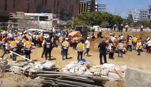 prab Raniti si persoane date disparute   constructie prabusita la Tel Aviv (VIDEO)