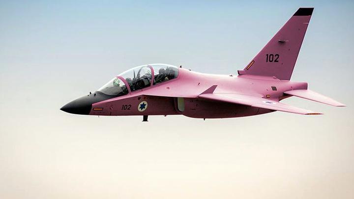 israel avioane Armata israeliana zboara cu avioane roz