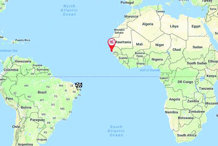 2016 11 14 18 14  Bens Progess inot Big Blue Primul om care traverseaza Atlanticul inot a pornit din Senegal