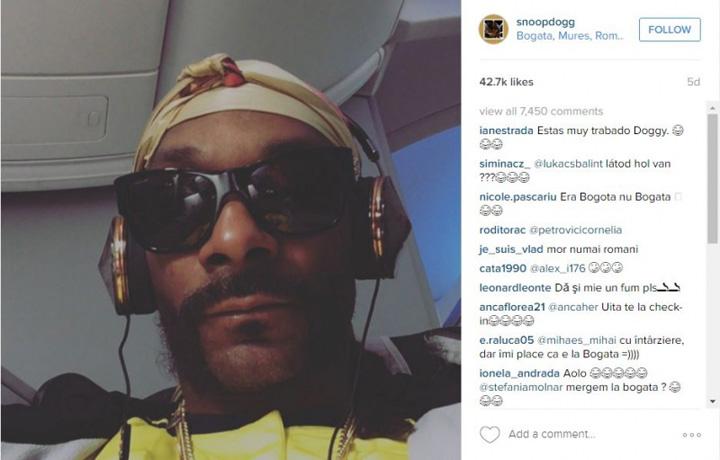 Snoop Instagram Snoop Dogg se tine de cuvant: vine la Bogata de Mures
