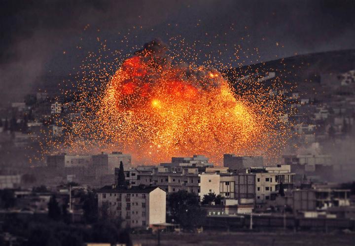 explozie siria isis statul islamic getty Incepe razboiul? Care sunt cele mai sigure tari