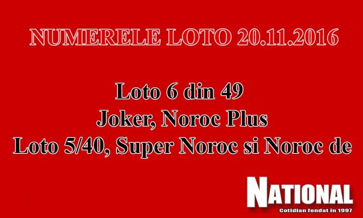 numere loto 6 din 49 720x432 Numere Loto 6/49, Joker, Noroc   20 noiembrie 2016   LOTO 6/49