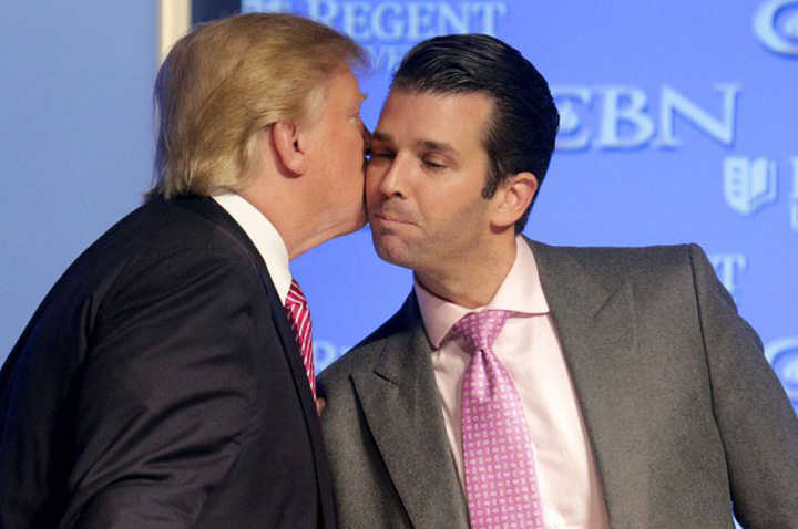 trump fi fiul Trump si ar pune unul din baieti ministru