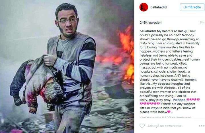 11 Vedetele lumii, impotriva masacrului din Alep