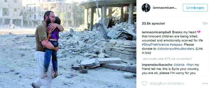 23 Vedetele lumii, impotriva masacrului din Alep