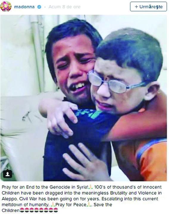 4 Vedetele lumii, impotriva masacrului din Alep