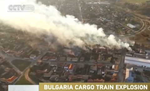 exploz tren Explozie de proportii pe calea ferata, in Bulgaria, soldata cu numeroase victime (VIDEO)