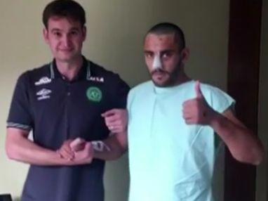 jucator VIDEO impresionant cu un fotbalist care a supravietuit tragediei aviatice din Columbia