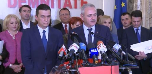 premier desemnat Dragnea a anuntat calendarul investirii noului Guvern/ Cand ar vrea Grindeanu sa aiba loc prima sedinta a Executivului