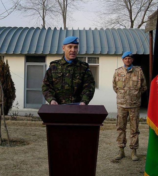 BIBIRITA medalion Colonelul Bibirita a ocupat cea mai inalta pozitie militara ONU din Afganistan