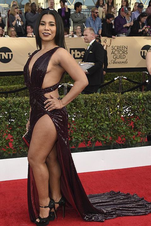 Jessica Pimentel Dezastru vestimentar la gala premiilor Sindicatului actorilor americani