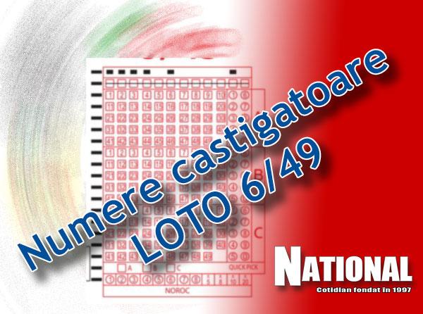 NUMERE LOTO 6 din 49 LOTO 6/49, 08 ianuarie 2017. Numere Loto 6/49, Joker şi Noroc