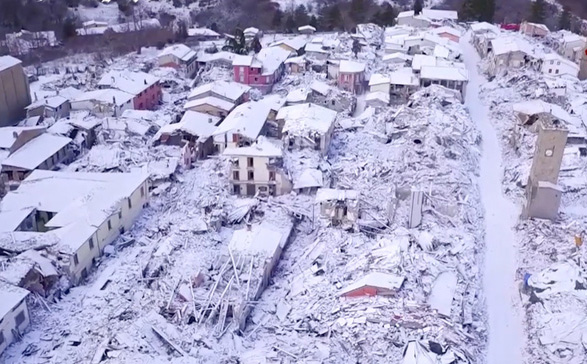 amatrice Val de frig mortal in Europa