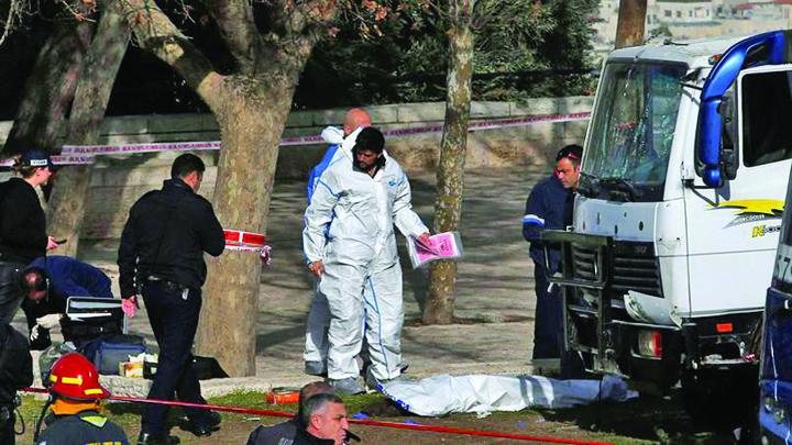 atac ierusalim1 Atentat cu camionul in Ierusalim: patru morti