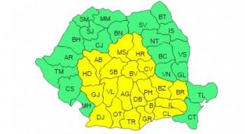 harta ger 350x192 Vremea va fi deosebit de rece in urmatoarele zile, in Capitala si alte 20 de judete (HARTA)