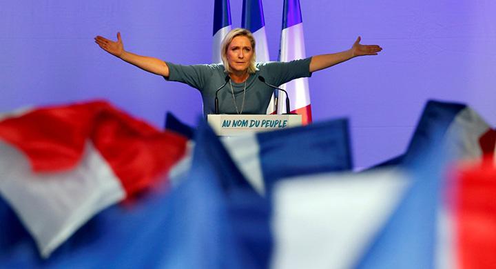 le pen1 Marine Le Pen, in fruntea sondajelor