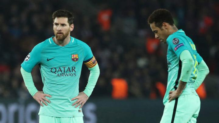 14871655320763 FC Barcelona, umilita de PSG, in fata vedetelor din tribune!