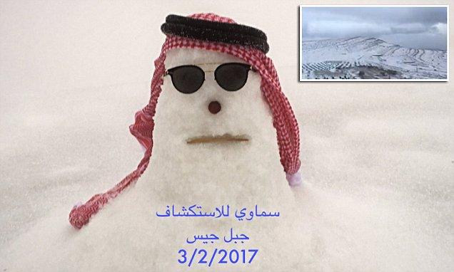 3CD84C6F00000578 0 image a 27 1486257750685 Snowman from Dubai. Emiratul arab, acoperit de zapada