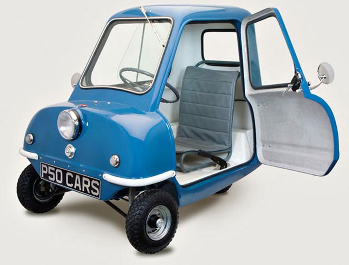 blue p50 cars front left view2 Peel P50, cea mai mica masina din lume