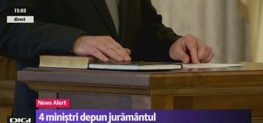 depunere Cei 4 ministri au depus juramantul