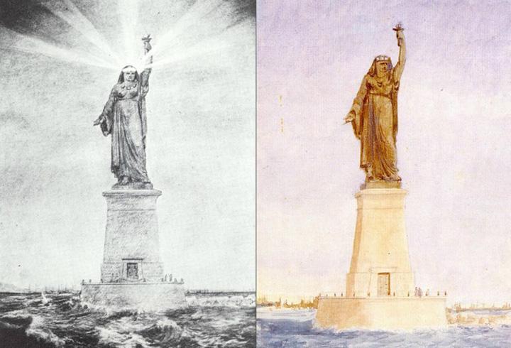 desen Sac! Statuia Libertatii, inspirata de o musulmanca