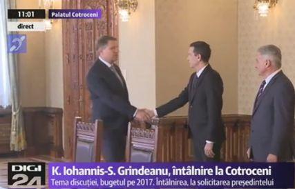 discutii Grindeanu, din nou fata in fata cu Iohannis