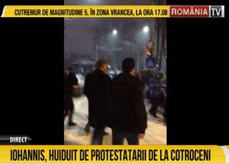 ioh2 Iohannis, si printre protestatarii de la Cotroceni