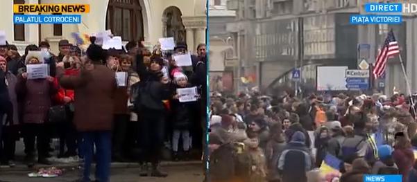 protest1 Se protesteaza si la Palatul Cotroceni