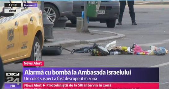 alerta Colet suspect in centrul Capitalei, langa o ambasada