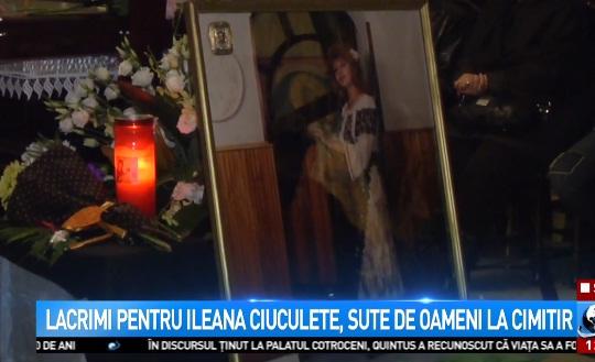 inmormantare Ileana Ciuculete, condusa pe ultimul drum. Cantareata, inmormantata la Straulesti