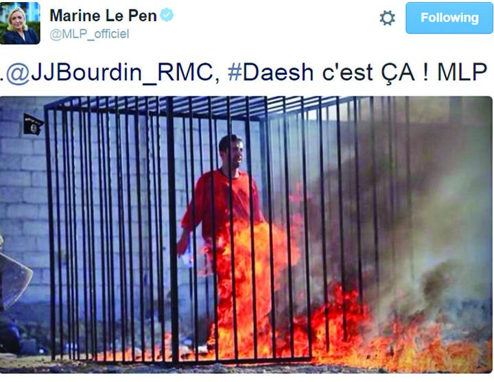 isis1 1 ISIS a lasat o fara imunitate pe Marine Le Pen