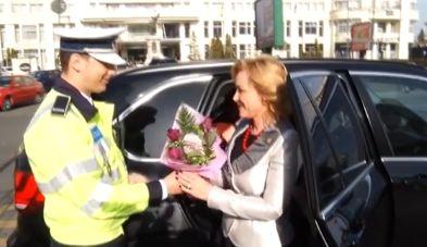 ministru Ministrul Carmen Dan, oprita in trafic chiar de 1 Martie!