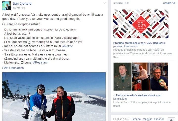 munt 720x488 Klaus Iohannis, din nou pe partie. Discutii despre guvernanti si protestatari, pe schiuri