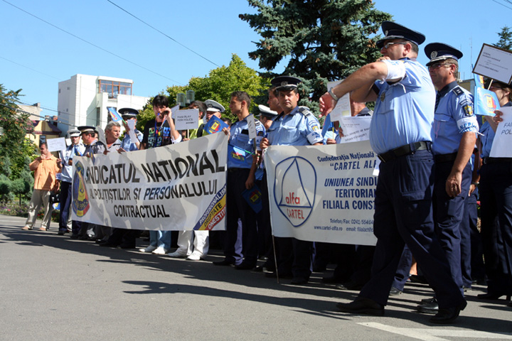protest 1 Pana la ministru, pe politisti ii mananca liderii de sindicat!