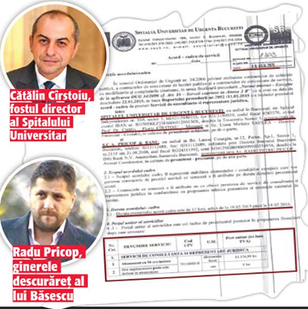 04 05 Triada Basescu, Cirstoiu, Pricop    afaceri cu iz penal la Spitalul Universitar