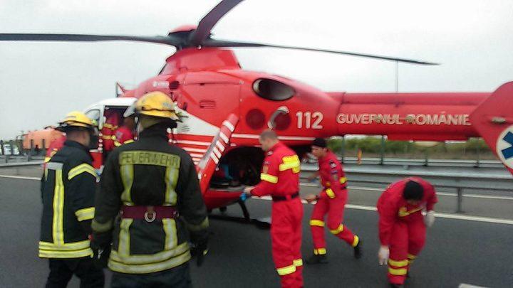 accident a1 720x405 Grav accident pe A 1: mai multi raniti. A intervenit un elicopter SMURD