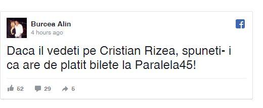 acuz Noua acuzatie la adresa fostului deputat Rizea: are de platit bilete