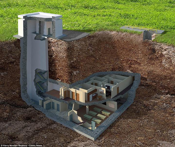 bunker  Lux postatomic: bunker de 17, 5 milioane de dolari