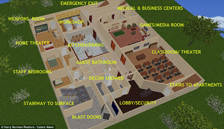 bunker 1 Lux postatomic: bunker de 17, 5 milioane de dolari