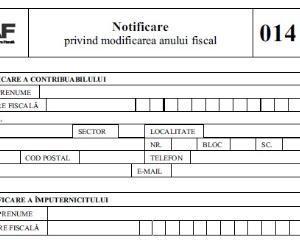 formular 014 Fiscul modifica modelul si continutul formularului 014
