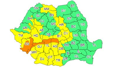 harta cod portoc Avertizare de ultima ora despre vreme: COD PORTOCALIU