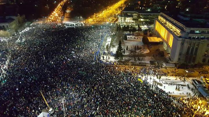 """prostest bucuresti 1 februarie 2017 Trump merge pe """"Proiectul Grindeanu""""!"""